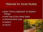materials for social studies