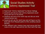 social studies activity johnny appleseed trail