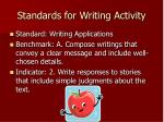 standards for writing activity