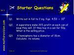 starter questions18