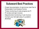 subaward best practices