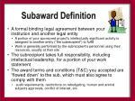 subaward definition