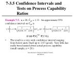 7 3 5 confidence intervals and tests on process capability ratios26