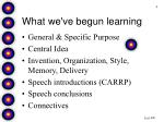 what we ve begun learning