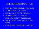 chemotransduction
