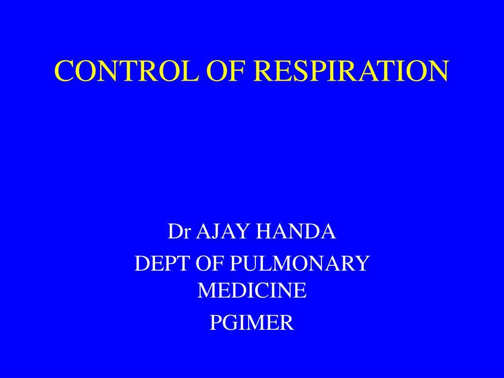 control of respiration l.