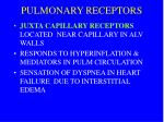 pulmonary receptors