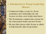 1 introduction to troop leadership know