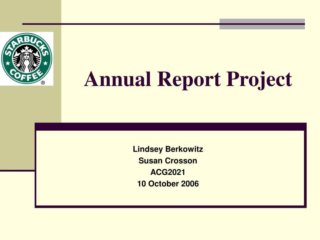 annual report project l.