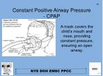 constant positive airway pressure cpap