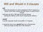 will and would in if clauses