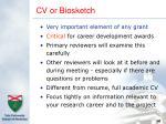 cv or biosketch