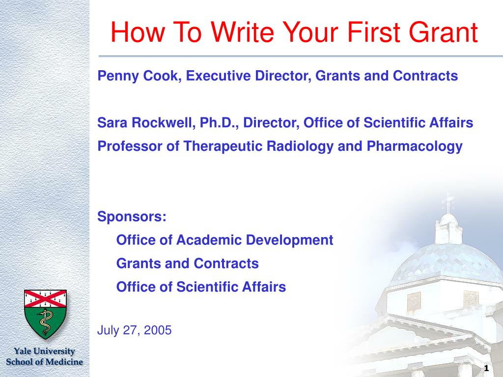 how to write your first grant l.