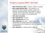 problems in grants nrfc nci staff