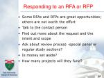 responding to an rfa or rfp