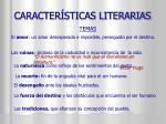 caracter sticas literarias