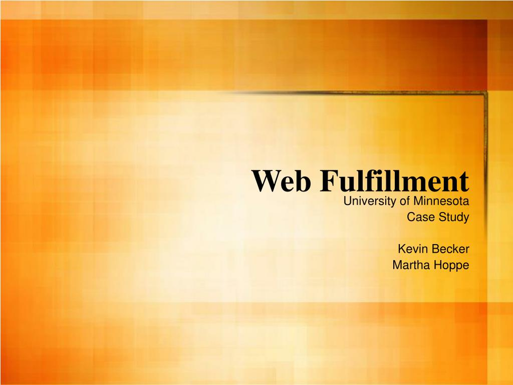 web fulfillment l.