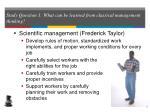 study question 1 what can be learned from classical management thinking