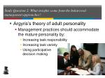 study question 2 what insights come from the behavioral management approaches27
