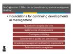 study question 3 what are the foundations of modern management thinking