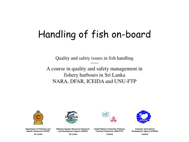 handling of fish on board n.