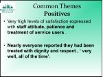 common themes positives