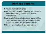 marriage patterns