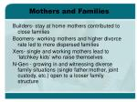 mothers and families