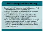 purchasing and marketing