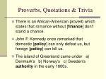 proverbs quotations trivia