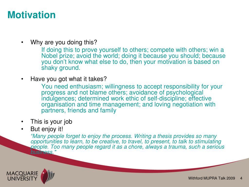 organisation behaviuour based motivation