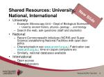 shared resources university national international