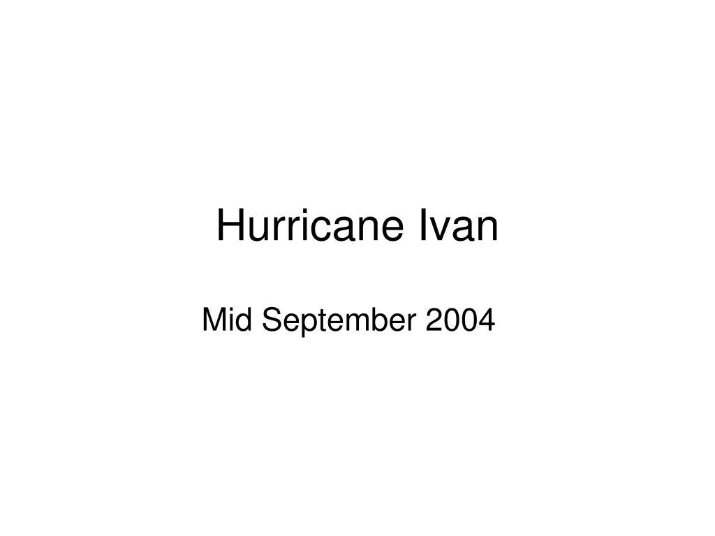 hurricane ivan l.