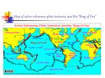 map of active volcanoes plate tectonics and the ring of fire