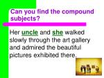 can you find the compound subjects23