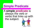 simple predicate