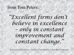 from tom peters