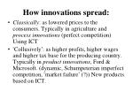 how innovations spread