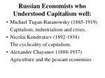 russian economists who understood capitalism well
