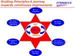 guiding principles a journey towards continuous improvement