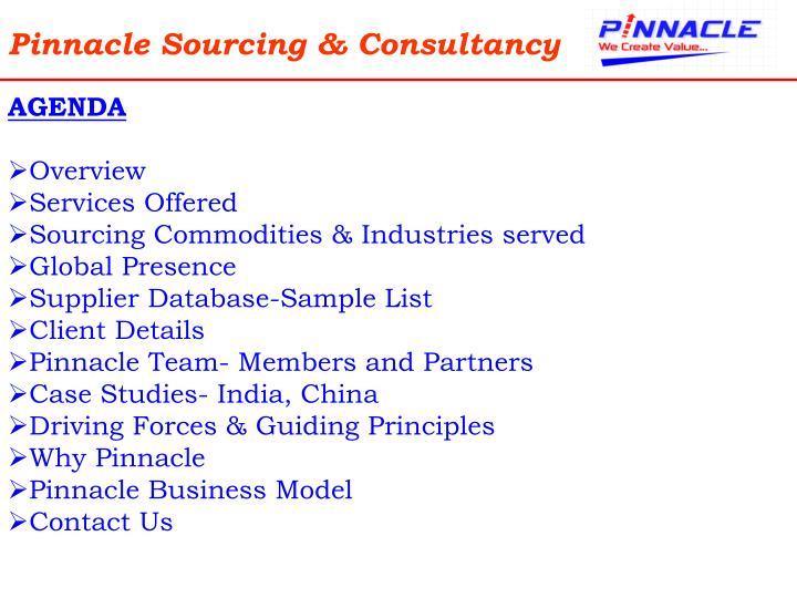 Pinnacle sourcing consultancy