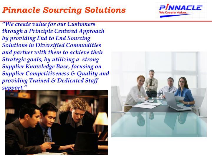 Pinnacle sourcing solutions