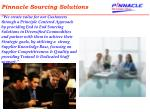 pinnacle sourcing solutions