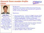 pinnacle team member profile china