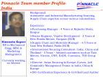 pinnacle team member profile india
