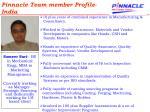 pinnacle team member profile india21