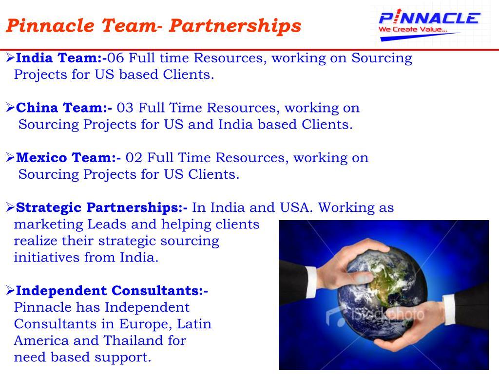Pinnacle Team- Partnerships