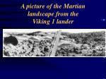 a picture of the martian landscape from the viking 1 lander