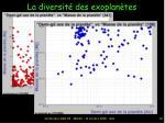 la diversit des exoplan tes