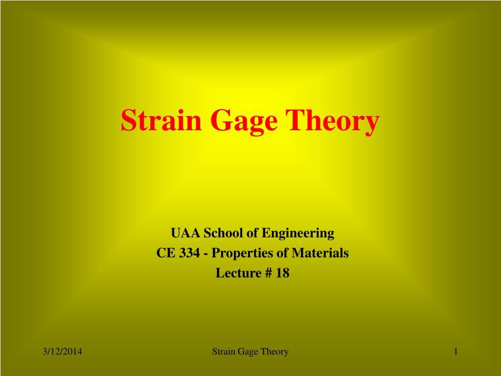 strain gage theory l.